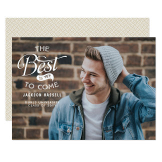 The Best is Yet to Come Graduation Announcement