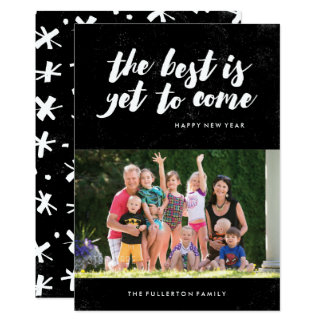 The Best Is Yet to Come New Year's Card - Black