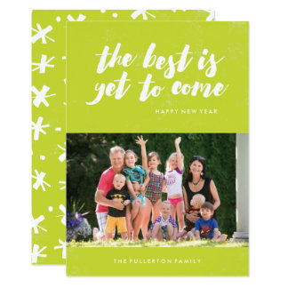 The Best Is Yet to Come New Year's Card - Lime