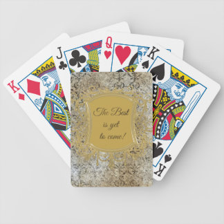 The Best is Yet to Come, Tassel on Frame Bicycle Playing Cards