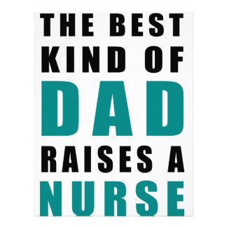 the best kind of dad raises a nurse customized letterhead