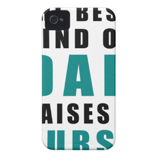 the best kind of dad raises a nurse iPhone 4 cases