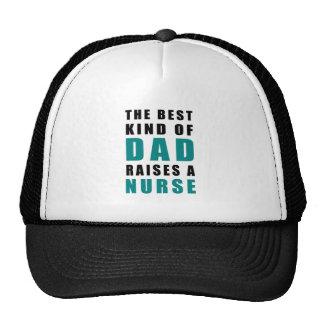 the best kind of dad raises a nurse trucker hat