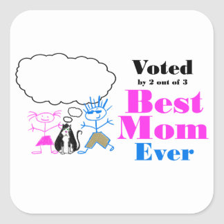 The Best Mom Square Sticker