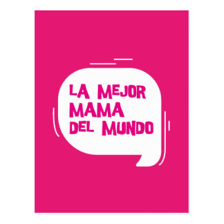 The best mother of the world postcard