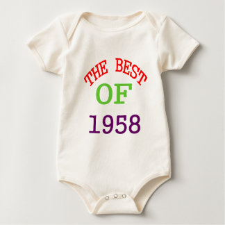 The Best OF 1958 Baby Bodysuit