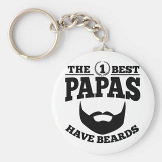 The Best Papas Have Beards Basic Round Button Keychain