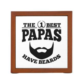 The Best Papas Have Beards Desk Organizer