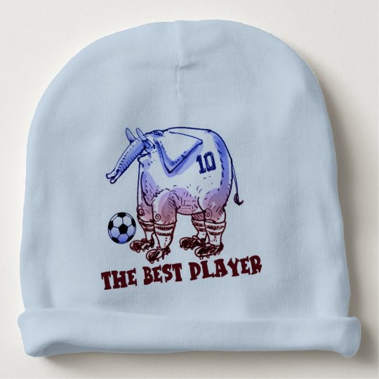 the best player elephant cartoon baby beanie