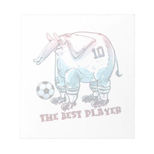 the best player elephant cartoon notepad