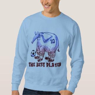 the best player elephant cartoon sweatshirt