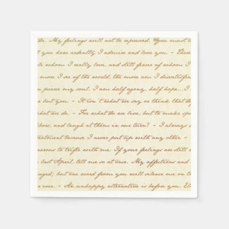 The Best Quotes from Jane Austen Paper Napkin