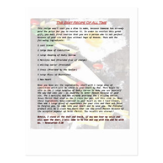 The Best Recipe of All Time - Gospel Tract Postcard
