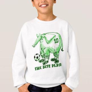 the best soccer player elephant cartoon green sweatshirt
