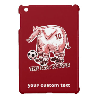 the best soccer player elephant cartoon red cover for the iPad mini