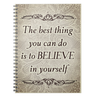 The best thing - Positive Quote´s Notebooks