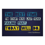 The best time to start (Large Template Editable) Poster