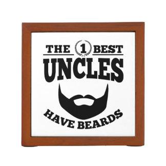 The Best Uncles Have Beards Desk Organizer