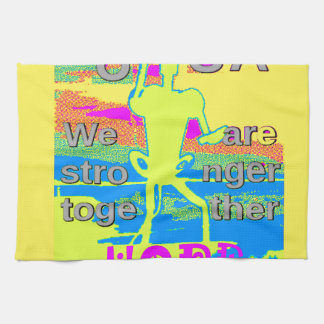 The Best USA Hope  Hillary Stronger Together Kitchen Towel
