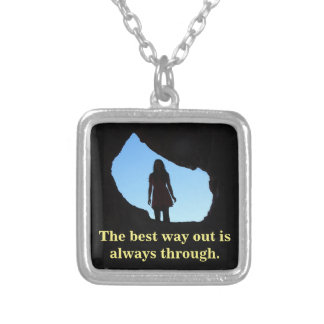 The best way out silver plated necklace