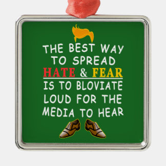 The Best Way to Spread Hate and Funny LOLs Metal Ornament