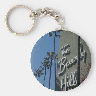 The Beverly Hills Hotel Basic Round Button Keychain