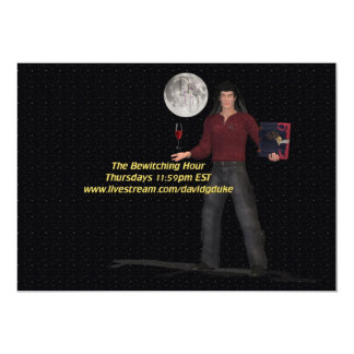 """The Bewitching Hour Icon 5"""" X 7"""" Invitation Card"""