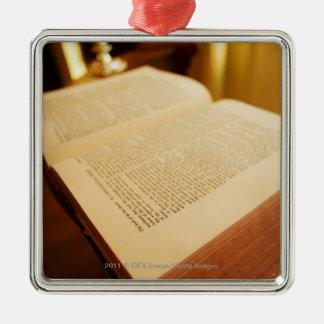 The Bible Silver-Colored Square Ornament