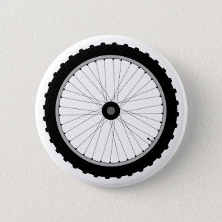 The Bicycle Wheel Badge. 2 Inch Round Button