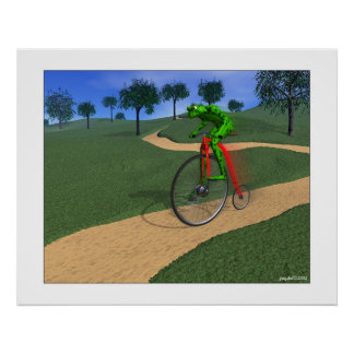 The Bicyclist w/blur Poster