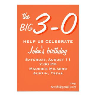 the big 3-0 30th birthday invitation