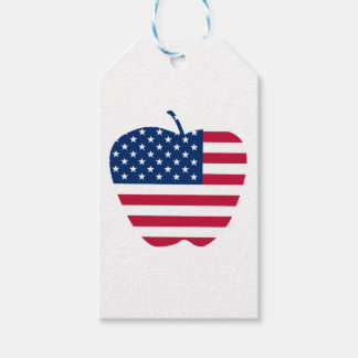 The Big Apple America flag NYC Gift Tags