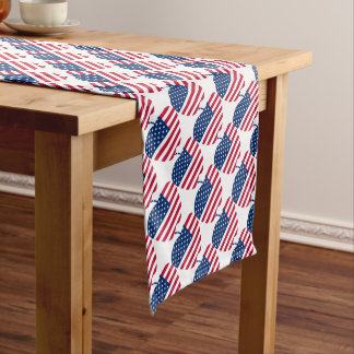 The Big Apple America flag NYC Short Table Runner