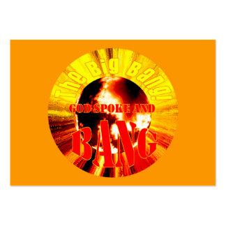 The Big Bang! God Spoke and BANG - Tract Cards / Large Business Card