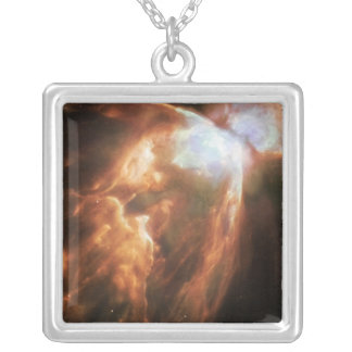 The Big Bright Bug Nebula Silver Plated Necklace