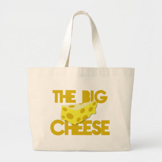 THE BIG CHEESE the boss design with cheese! Jumbo Tote Bag