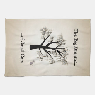 The Big Dreams of Small Cats Kitchen Towel