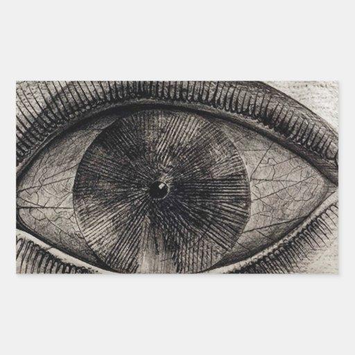 The Big Eye Rectangular Sticker