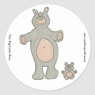 The Big/Little Bear Classic Round Sticker