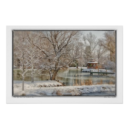 The Big Pond in Winter Poster