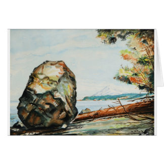 The Big Rock - Suquamish WA Card