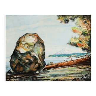 The Big Rock - Suquamish Washington Postcard