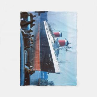 The Big Ship:  SS United States Fleece Blanket