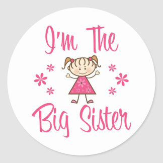 The Big Sister Classic Round Sticker