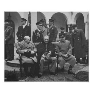 The Big Three During Yalta Conference -- WW2 Poster