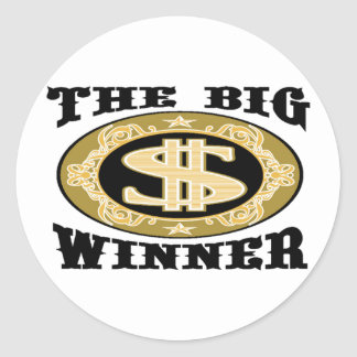 THE BIG WINNER CLASSIC ROUND STICKER