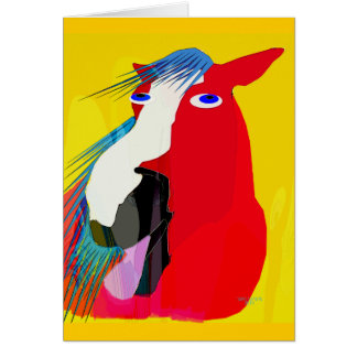 The Big Yawn-Whimsical Horse Collection Card