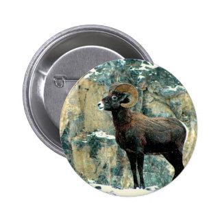The Bighorn Ram 2 Inch Round Button