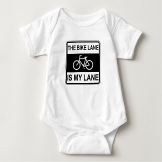The Bike Lane Sign Baby Bodysuit