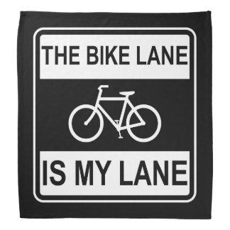 The Bike Lane Sign Bandana